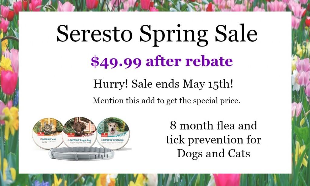 Spring Seresto Sale